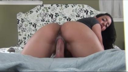 big booty dick riding creampie