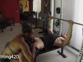 workout turns into hot fucking with sexy ebony milf - preview