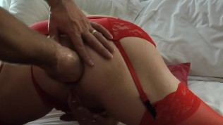 Stetching the wifes luscious tight ass hole