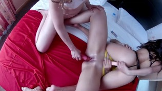 Lesbian threesome real 18 years old amateur and friends hot latinas strapon