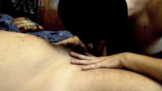 Deep ass eating with cumming deep in dirty slut slave's throat