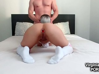 Teen can't refuse a quick anal fuck !