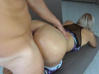 Your favourite grinding in yoga pants with cumshot on anus