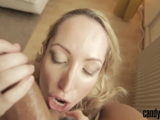 Candy May - SUCKS BALLS AND GET FUCKED DOGGY WITH BUTT PLUG IN