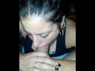 Big Dick makes Italian girl gag and squirt!!!