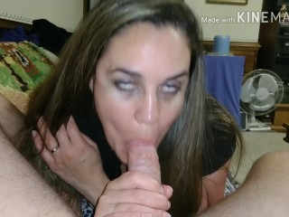 Wife sways husband to cum in her mouth after good fucking