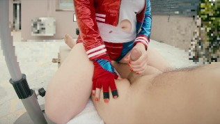 Ginger Harley Quinn Cosplay Creampie | Redhaired Pussy Doll Girl Fucks