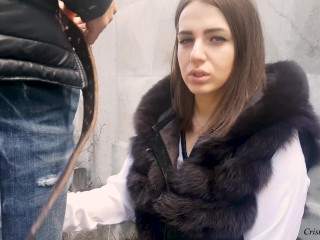 MILF Suck Strangers in Public and Fucks Doggystyle - Cristall Gloss