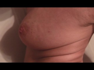 Fucked his wife with big tits and cumshot in the pussy