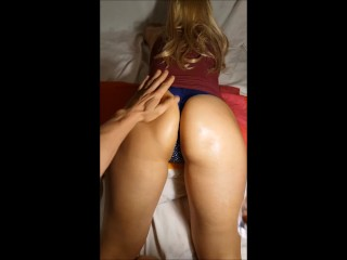 Neigbour get massaged and she wants his cock