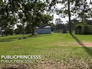 A walk in the park with Piss and Cum (TS PublicPrincess)