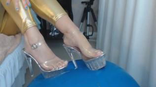 Emanuelly Raquel Foot Fetish with Nice Stripper High Heels