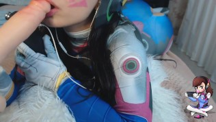 Nice DVA Overwatch Blowjob ASMR Cosplay With Emanuelly