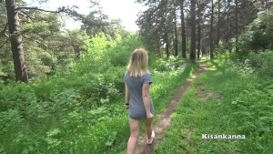 I play with my wife in the city Park of Lovense! Sex, squirt in public