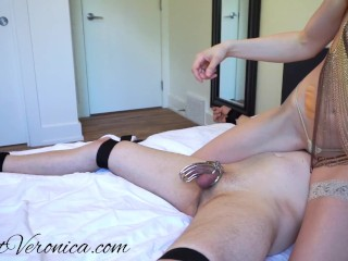 Veronica - Cock Teasing, Edging, and Post Orgasm Torture for her Pet