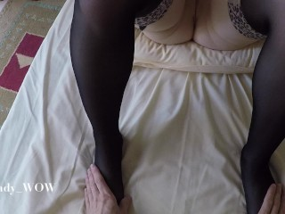 POV missionary sex and cum inside tight pussy - Lady_WOW