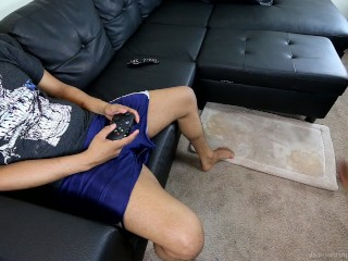 Big Titty Thot Sucked His Dick During Online Ranked Match - HUGE CUMSHOT
