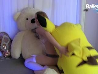 Toy/funny/plush threesome cam show bailey