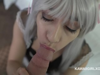 Neko Maid Moans While Getting Her Big Booty Fucked