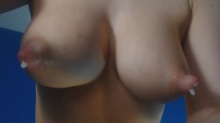 Playing With My Nipples And They Autodrip Milk