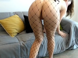 Petite Teen maid big ass fuck hard with oily uniform Blowjob & Huge Cumshot