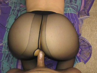 Great Anal in Nylon Pantyhose StepSister Pussyjob