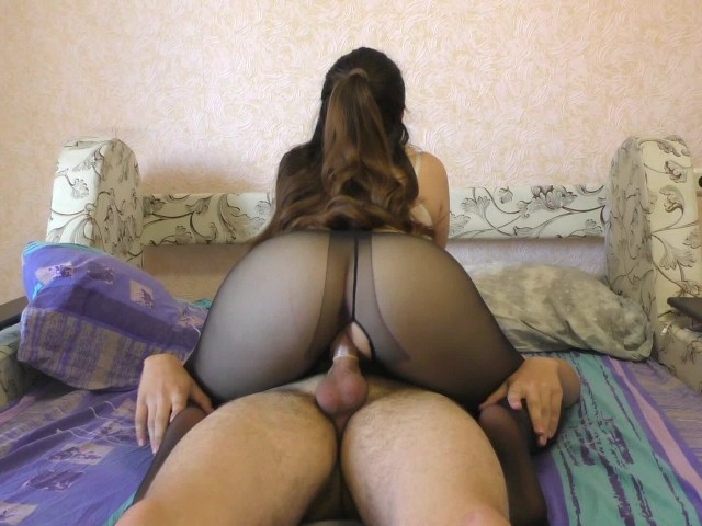 with a big pantyhose ass