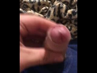 Small uncut cock gets hard / small uncut dick