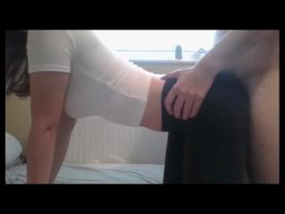 ripped yoga pants rough fuck