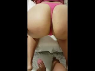 horny little sister has a very big ass