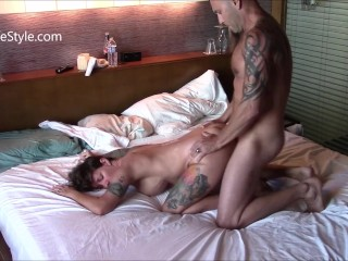 3 different fuck sessions with 3 creampies doggy style and flatiron prone
