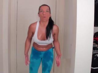 Farting in yoga pants (Alexis Rain)