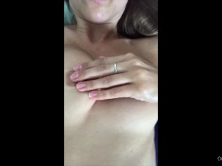 Cum close to me. Lele rubs her pussy for you and has a delicious orgasm
