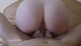 Sex tape / Pushing cum out of pussy with sound / Lady_WOW