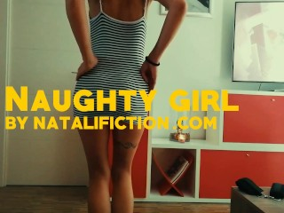 Naughty girl plays and makes me cum with her tits - Natali Fiction