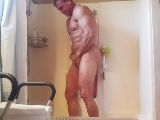 Masturbation/shower/his dirty shower takes and