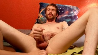 Jacking off while girlfriend puts a vibrator in my ass