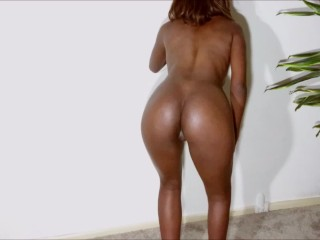 sexy ebony student lifted up and fucked against wall with cumshot on ass