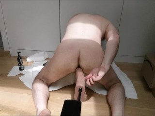 Straight sex/painful/moaning a2m hard makes him