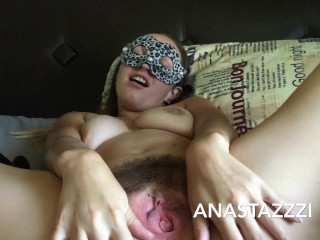 MY MORNING MASTURBATION—-FARTING HAIRY PUSSY))