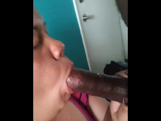 Sucking him up & ending with a facial