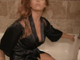 Chasity Merlow - Bubble Bath. Hot big tits brunette solo