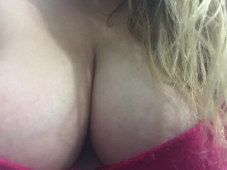 Carlycurvy talks about recent sex adventures and plays with boobs