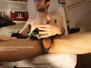 Quiet Solo Jerkoff with Slow Motion Cumshot Copy Ending