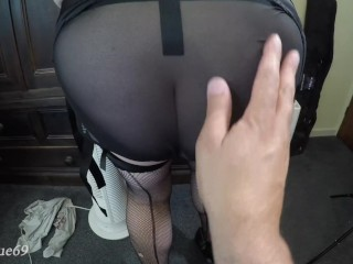 Amateur/husband anal sexy butt wife