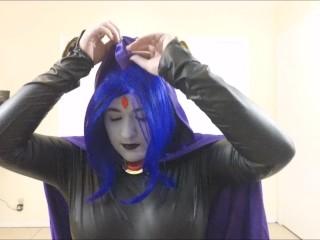 Raven Sucks On A Juicy Cock ( Teen Titans Cosplay )