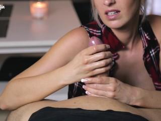 Lengthy and gradual teasing handjob