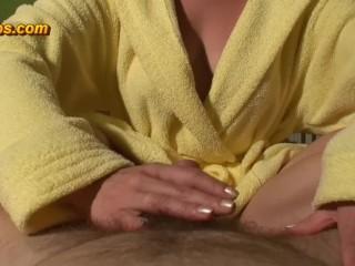 Maya give him 2 ruined orgasms