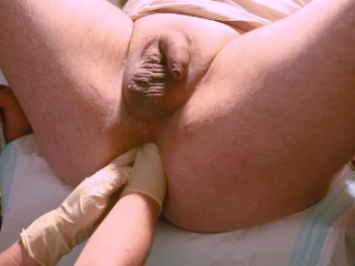 Marcus Pollack gets double fisting and giant speculum from Nurse