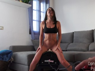 He control my pleasure - crazy orgasms on my motorbunny!